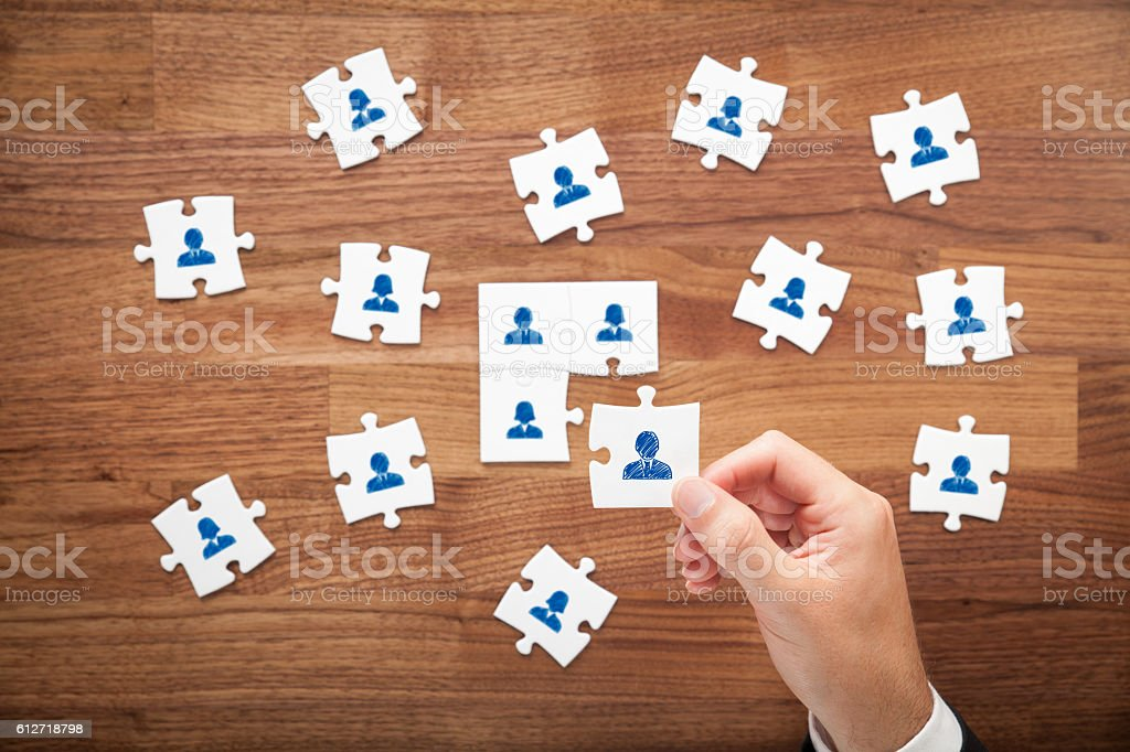 Assemble a team stock photo