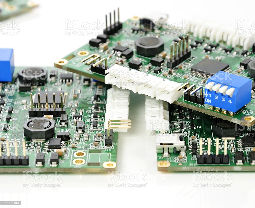 Assembled PCBs royalty-free stock photo