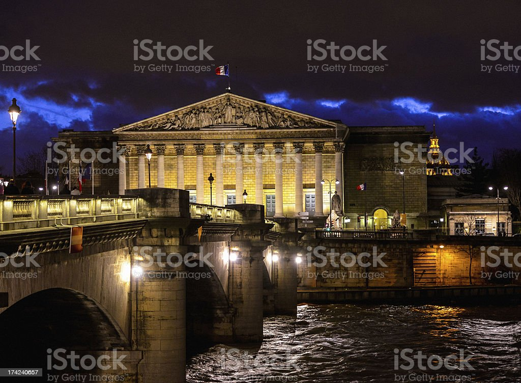 Assemblee Nationale in Paris royalty-free stock photo