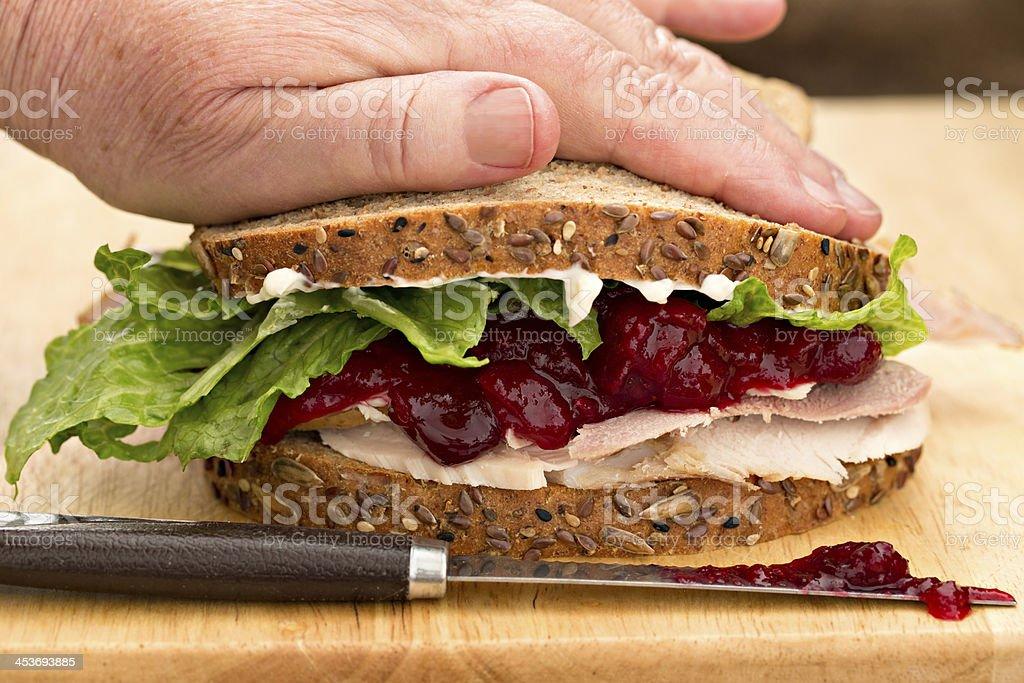 Assembling A Sandwich royalty-free stock photo