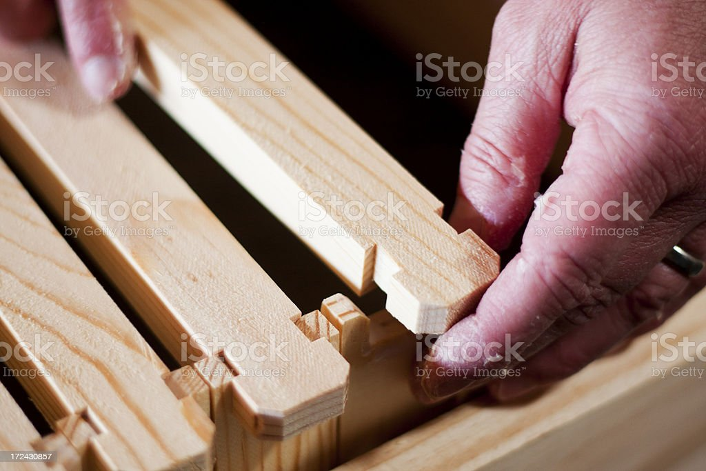 Assembling Hive Frames - Top Bars royalty-free stock photo