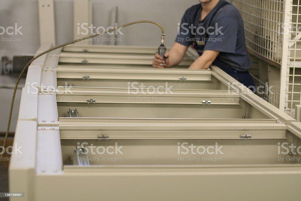 Assembling stock photo