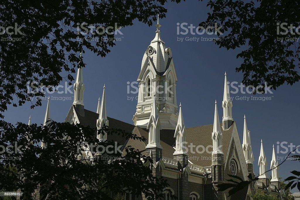 Assembly Hall rooftop, Salt lake city stock photo