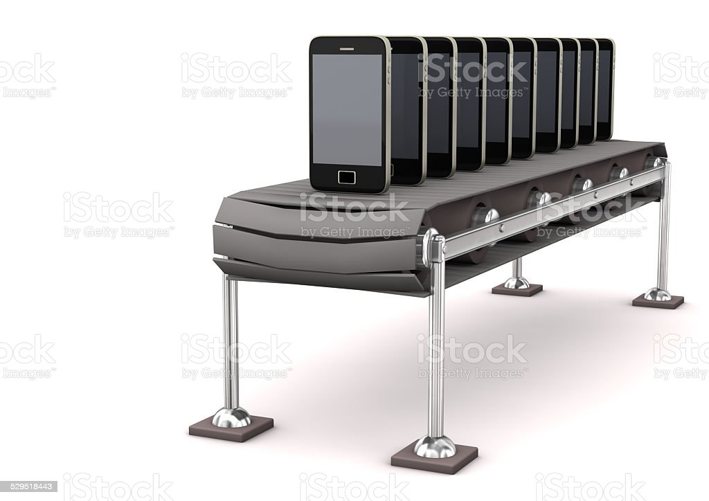 Assembly Line Smartphone stock photo