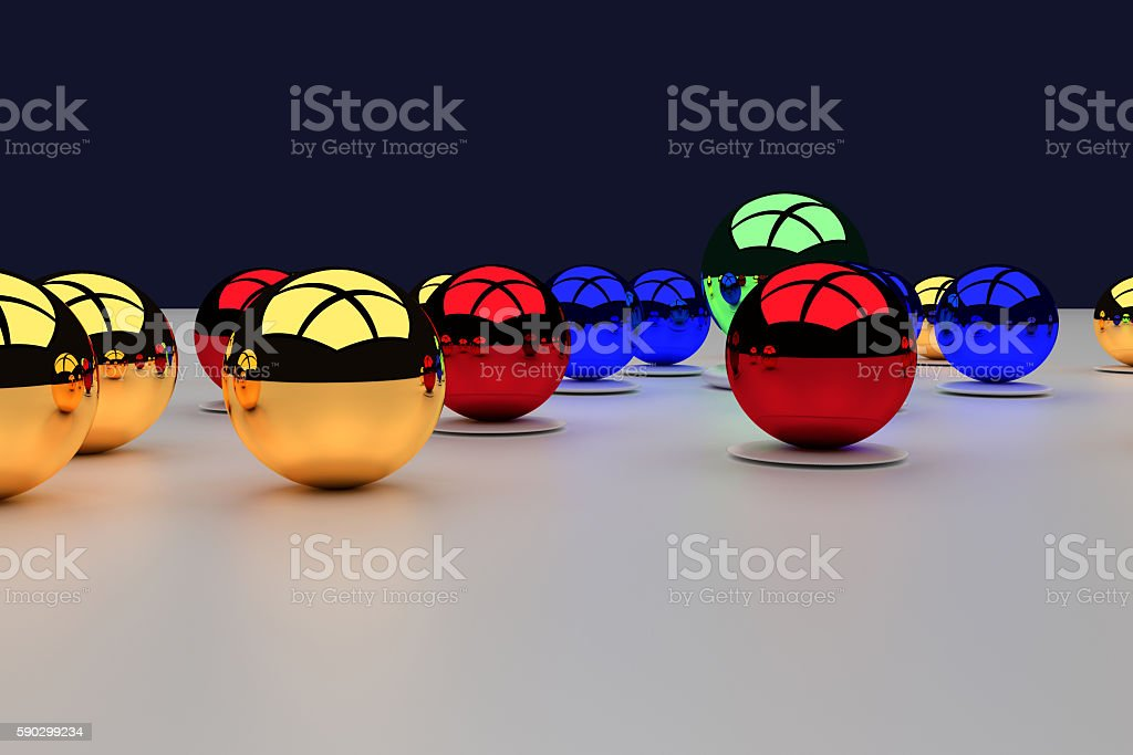 assembly of colorful glossy balls on a white surface Стоковые фото Стоковая фотография