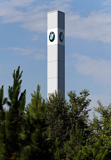 """BMW Assembly Plant """"Spartanburg, South Carolina, USA - July 28, 2012: The BMW assembly plant in Spartanburg, South Carolina. Sales of models produced at the plant--including the X3, X5 and X6--dipped slightly in July."""" spartanburg stock pictures, royalty-free photos & images"""