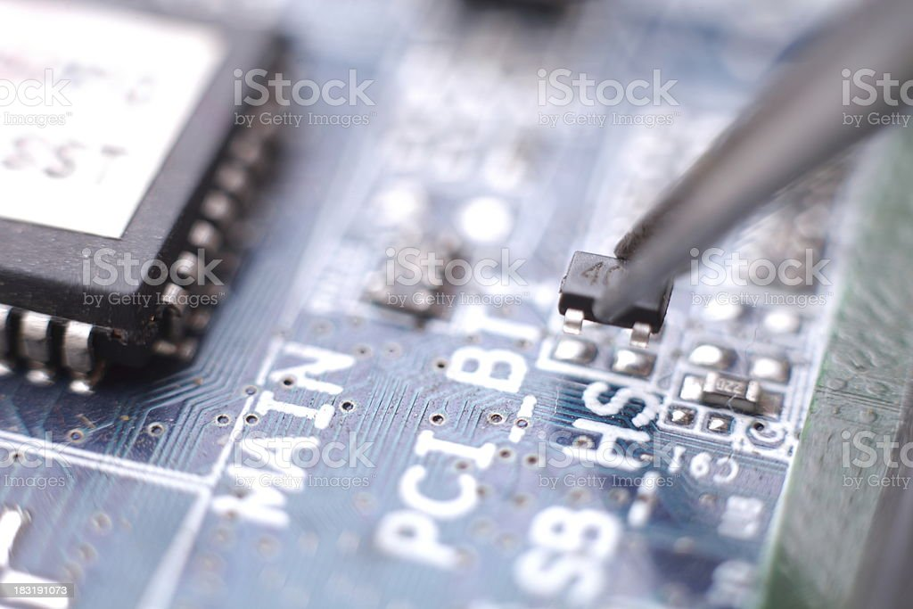 Assembly Transistor Installation royalty-free stock photo