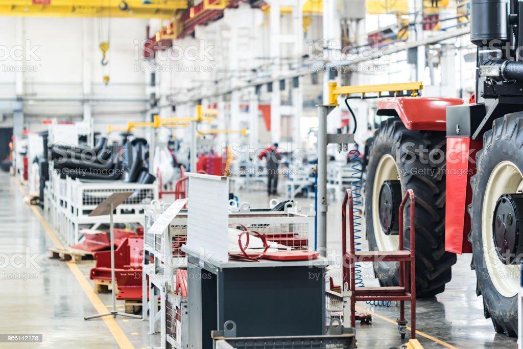 Vergadering workshop interieur op grote industriële plant - Royalty-free Apparatuur Stockfoto