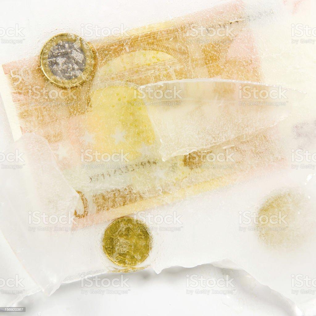 Assets, frosen in ice stock photo