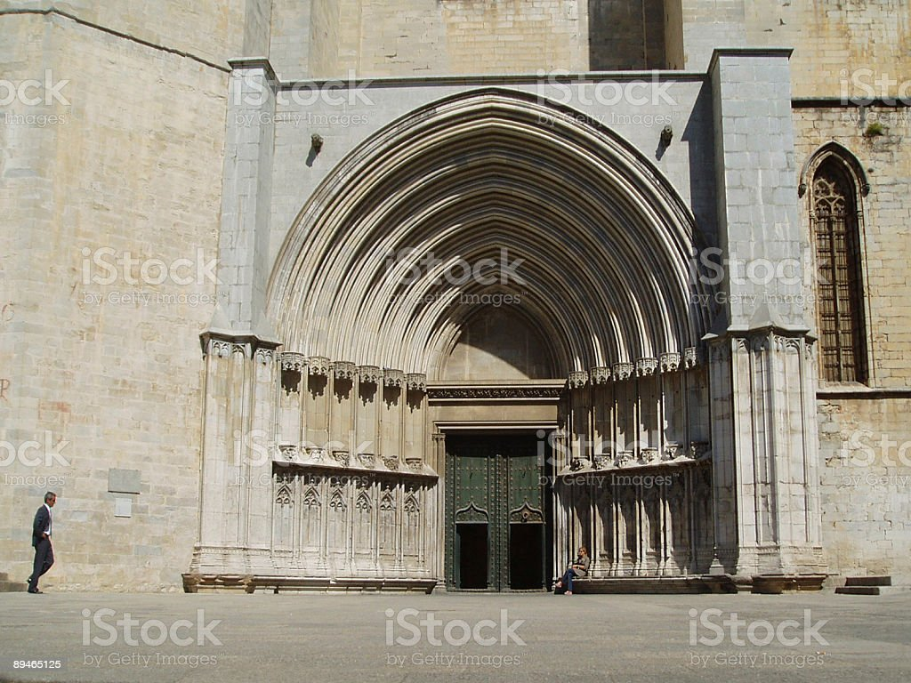 Assignation at Gerona Cathederal stock photo