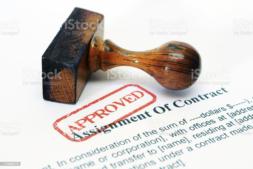 Assignment of contract royalty-free stock photo