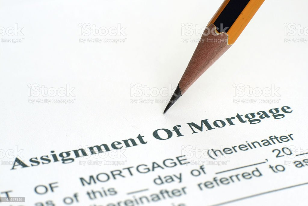 Assignment of mortgage royalty-free stock photo