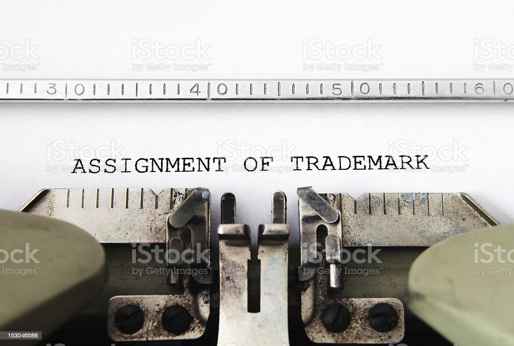 Assignment of trademark stock photo