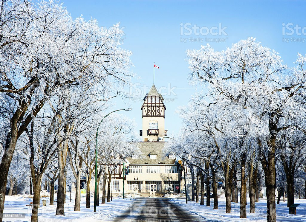 Assiniboine Park Pavilion Winnipeg stock photo