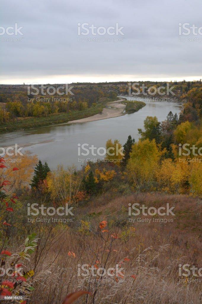 Assiniboine River, Manitoba stock photo