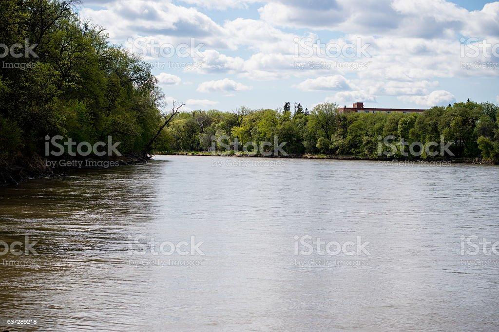 assiniboine river stock photo