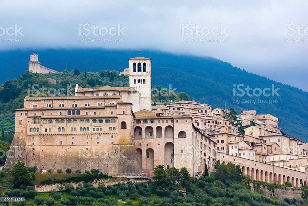 Assisi in Umbria, Italy stock photo