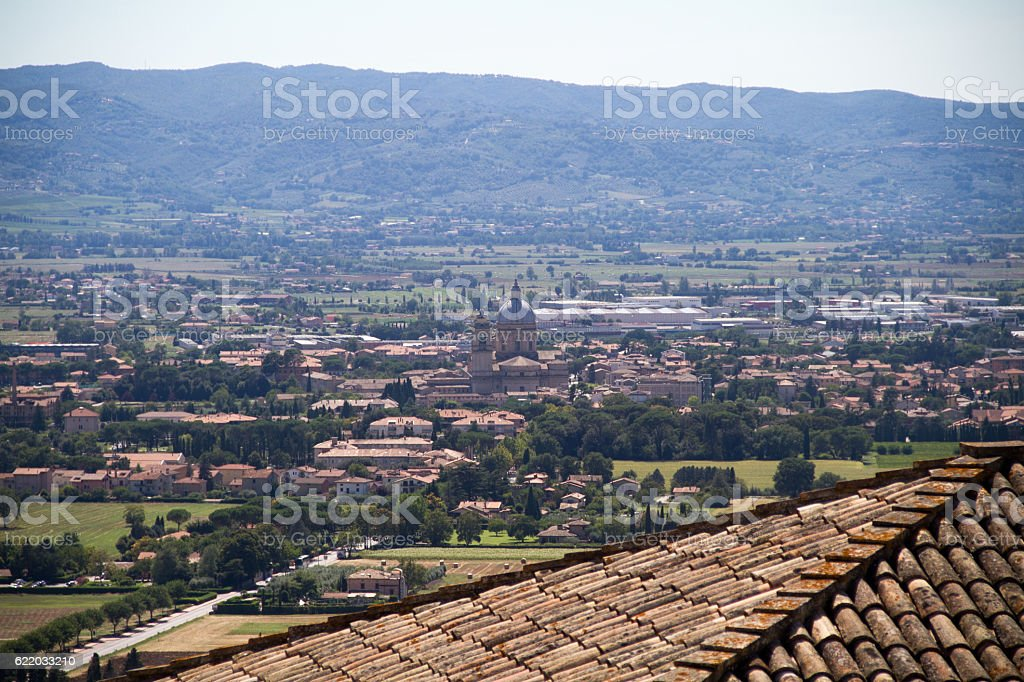 assisi landscape stock photo