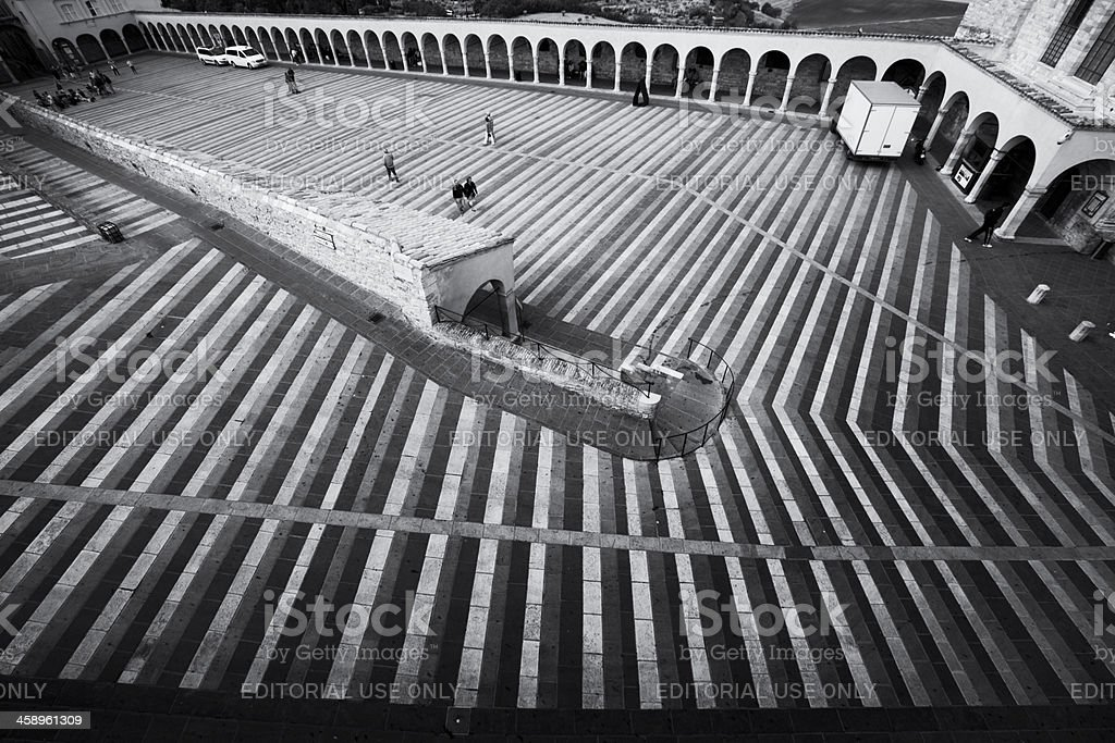 Assisi stairs royalty-free stock photo