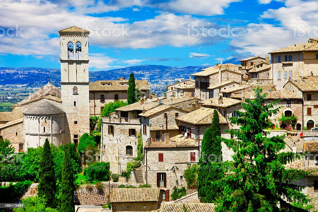 Assisi,Umbria,Italy stock photo