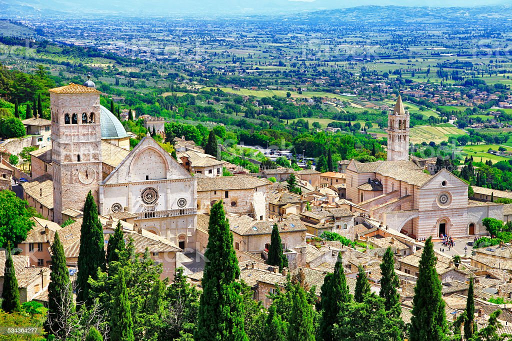 Assisi,Umbria.Italy stock photo