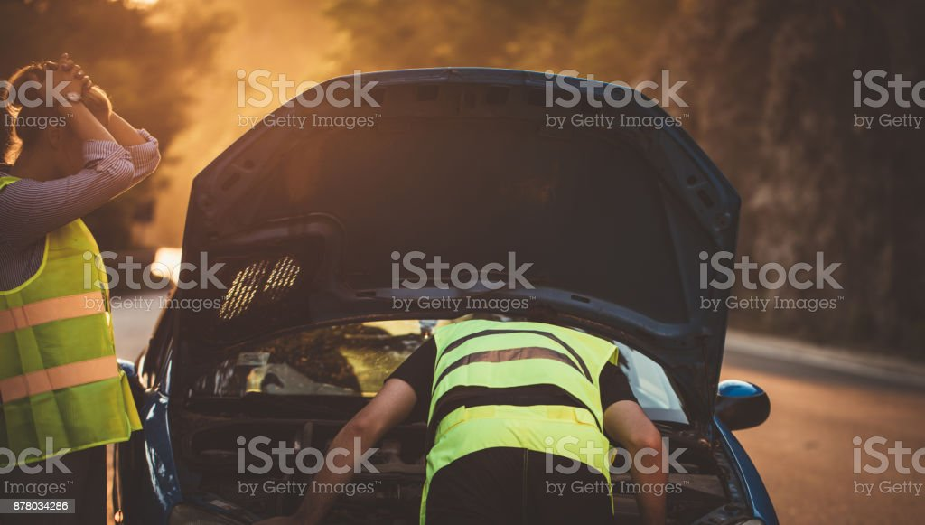 Assistance on the road stock photo
