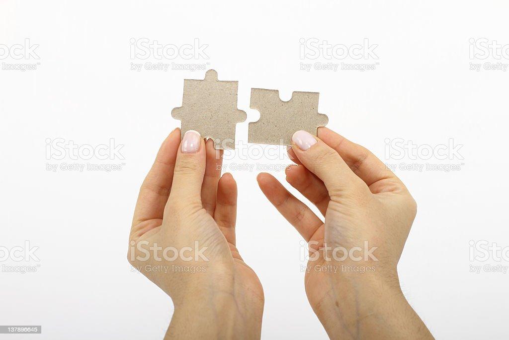 Hilfe puzzle Teamarbeit-Anschluss – Foto