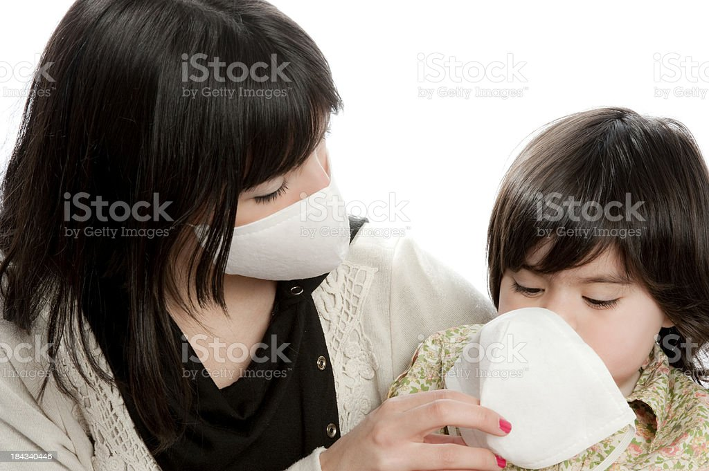 Assistance to the baby Girl. royalty-free stock photo