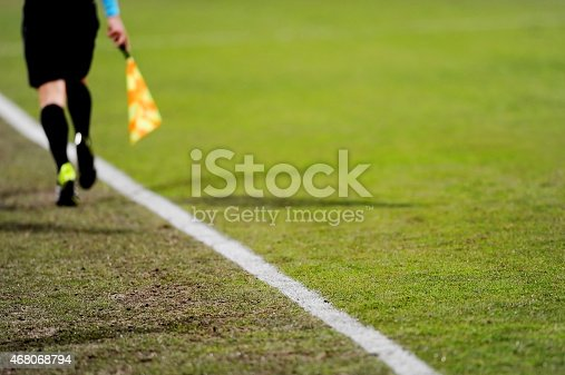 istock Assistant referee in action 468068794
