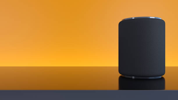Assistant smart speaker with artificial intelligence concept media concept smart speaker smart speaker stock pictures, royalty-free photos & images