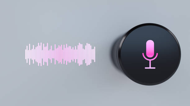 Assistant smart speaker with artificial intelligence concept media concept smart speaker verbaasd stock pictures, royalty-free photos & images