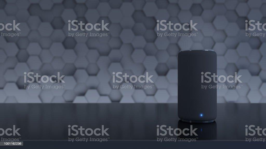 Alto-falante inteligente assistente com inteligência artificial - foto de acervo