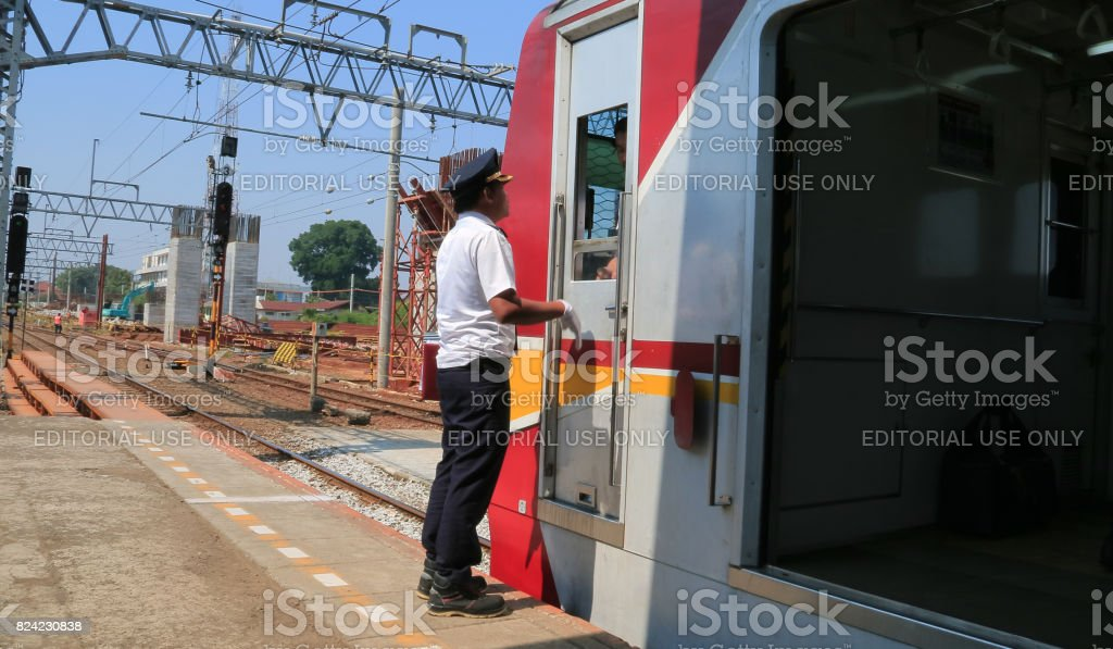 Assistant Train Driver stock photo