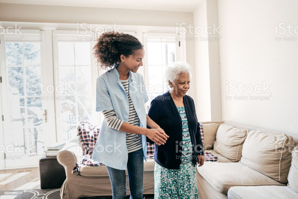 Assisting care at your home stock photo