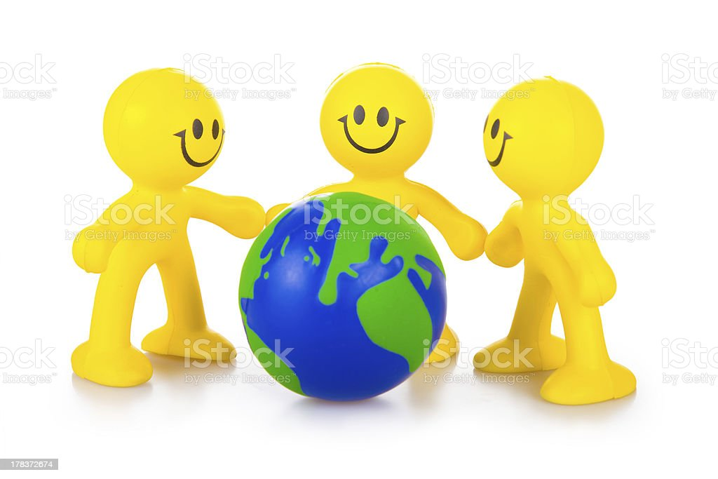 Association of mankind for preservation the Earth royalty-free stock photo