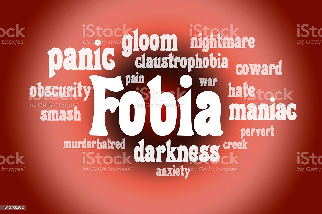 Association to the word Fobia stock photo