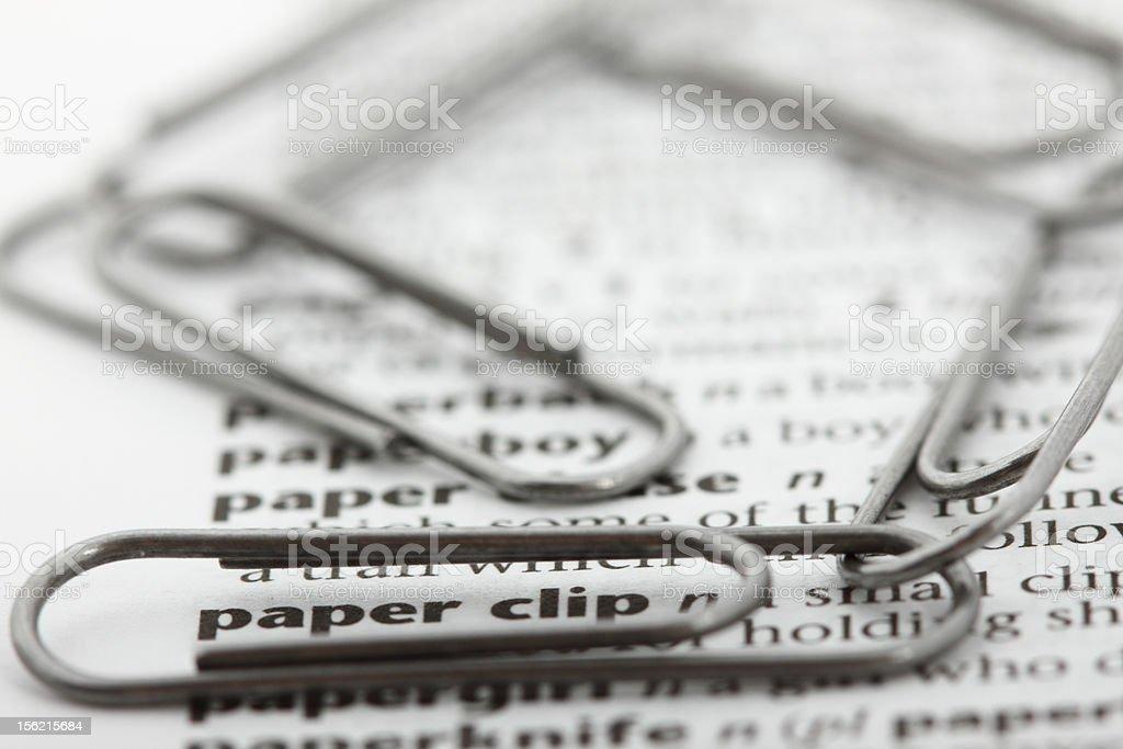 Verbande Was Die Worte Sprechen Buroklammer Stock Fotografie Und