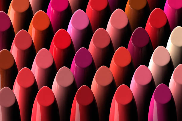 assorment of lipsticks - makeup fashion stock pictures, royalty-free photos & images