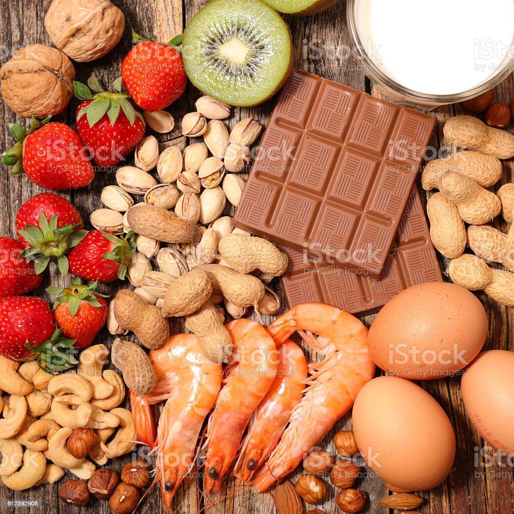 assorted allergy food - foto de stock