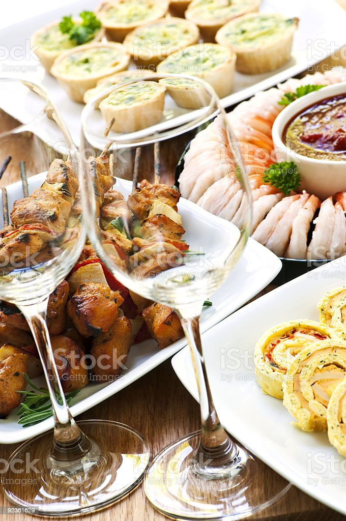 Assorted appetizers royalty-free stock photo