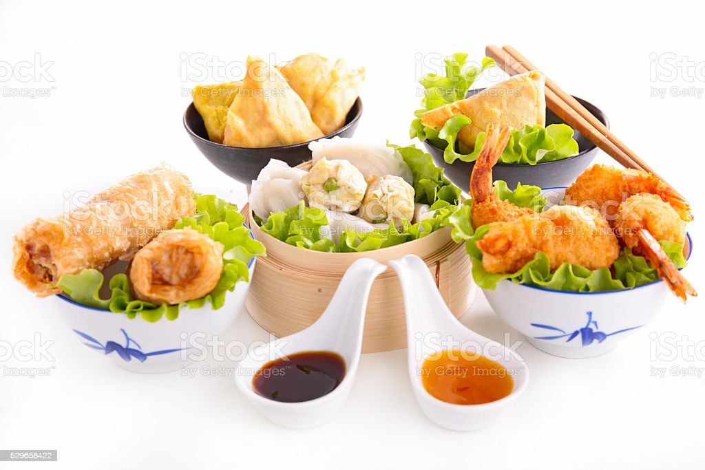 assorted asian food stock photo