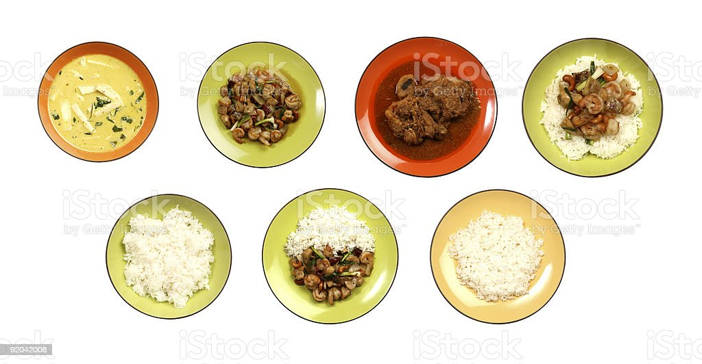 assorted asian foods royalty-free stock photo