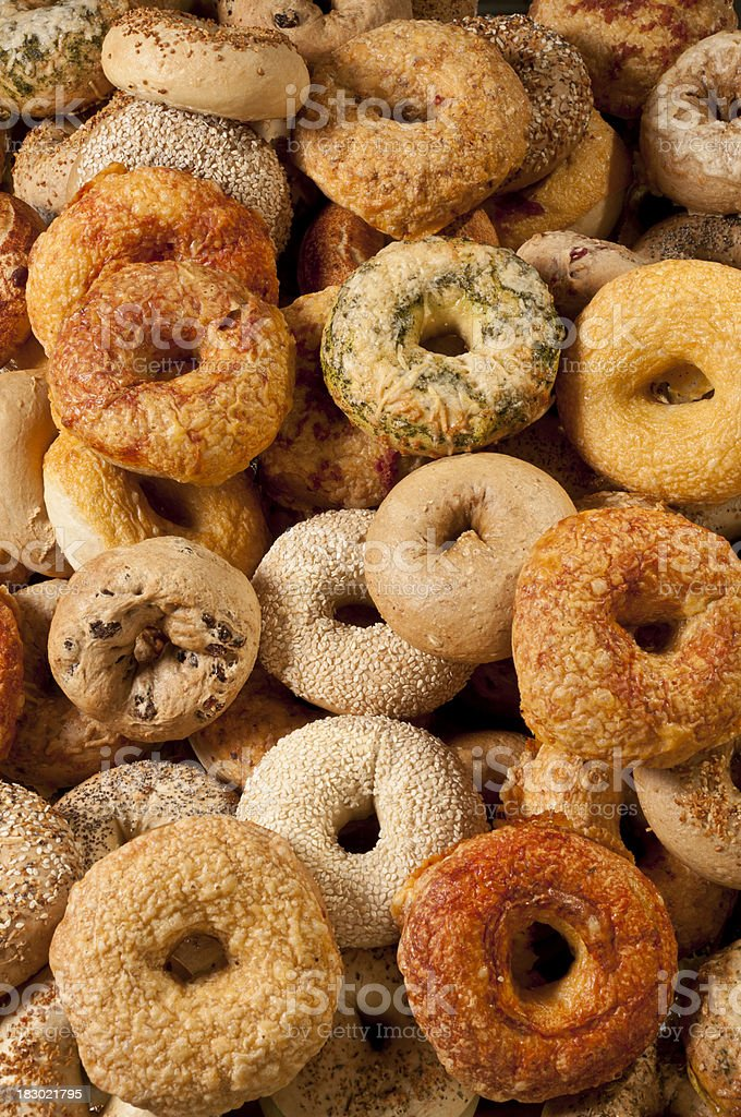 Assorted Bagels stock photo