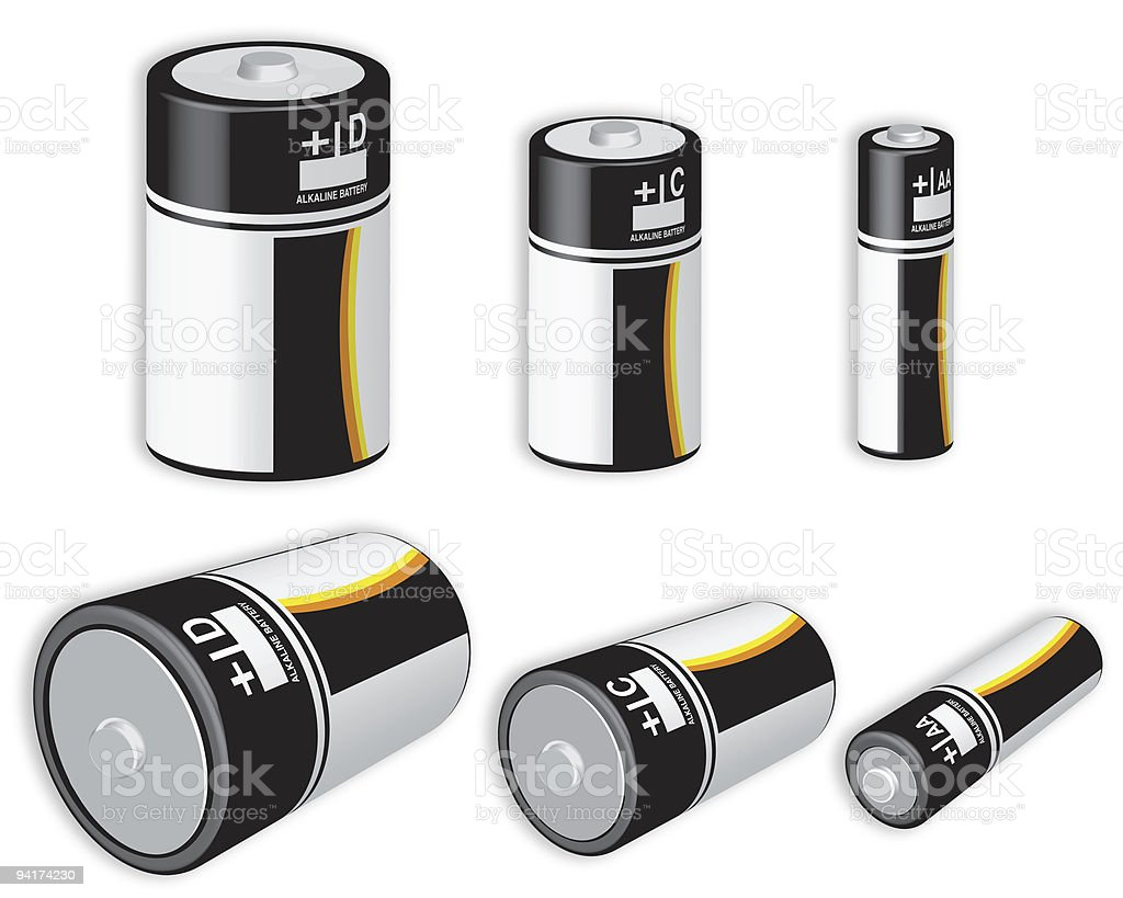 Assorted Batteries stock photo