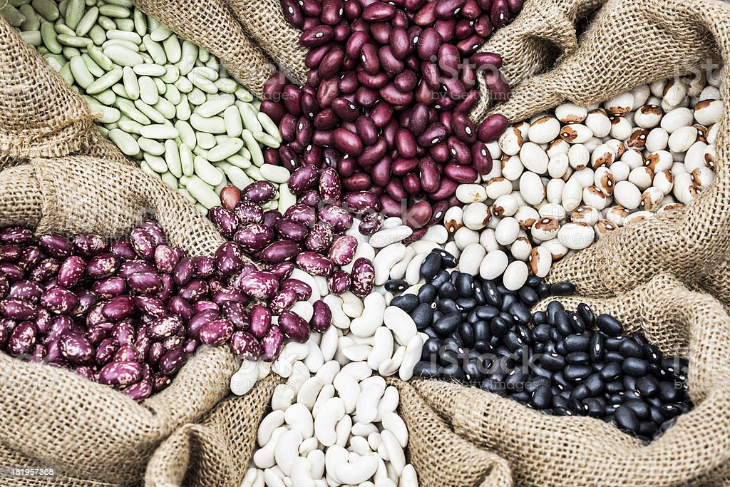 Assorted beans royalty-free stock photo
