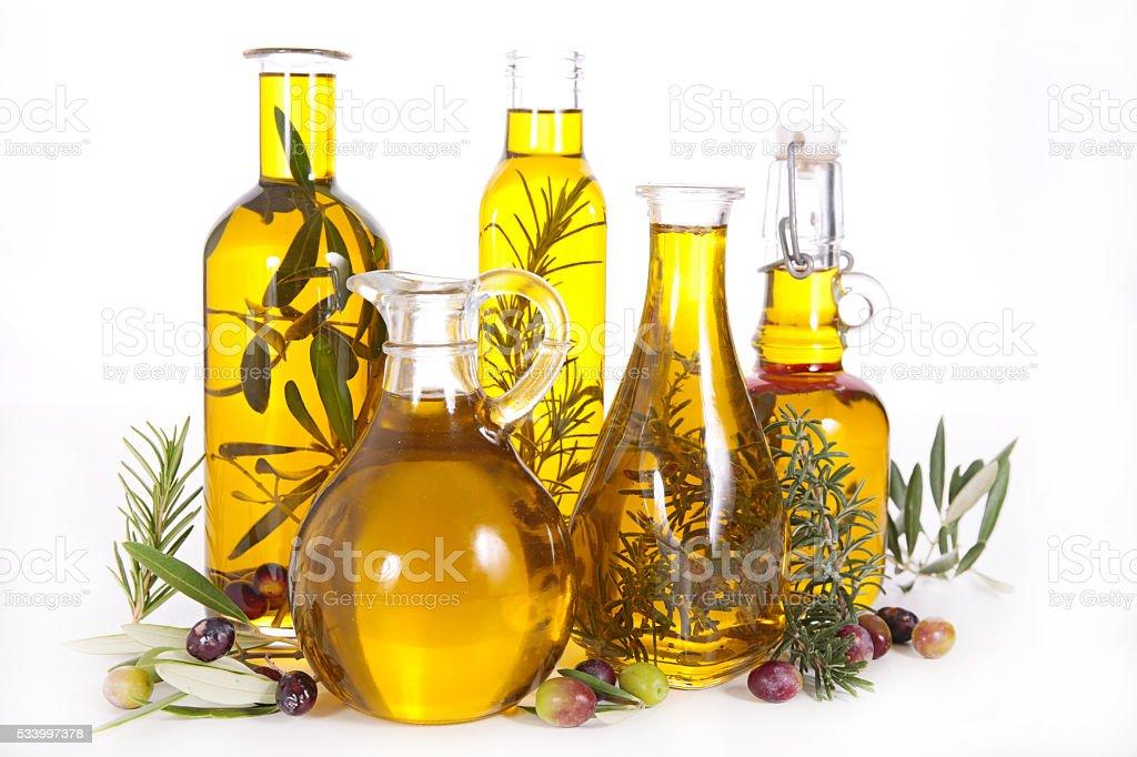 Variadas em garrafa de óleo - foto de acervo