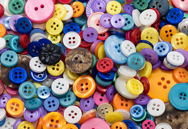 Assorted Buttons Background stock photo