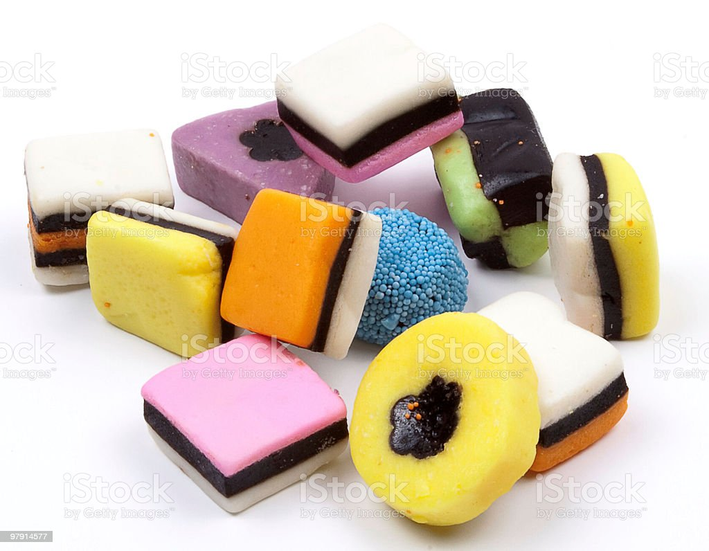 Assorted candy sweets royalty-free stock photo