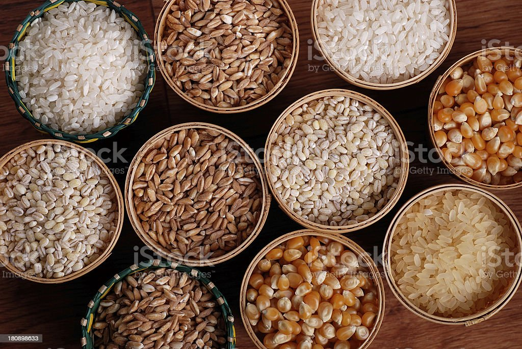 assorted cereals royalty-free stock photo
