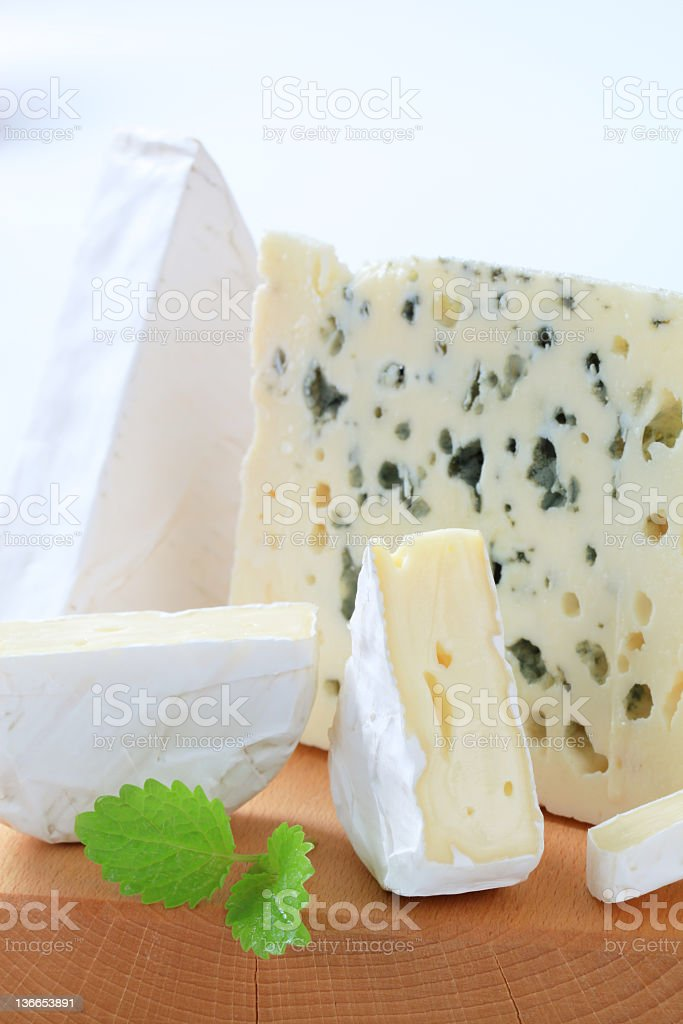 Assorted cheeses royalty-free stock photo
